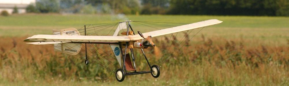 Hans-Grade Eindecker im Landeanflug